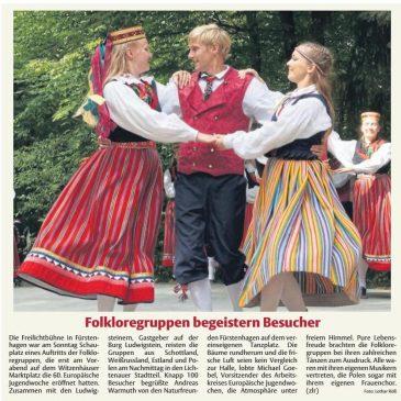 Presseberichte: HNA Witzenhäuser Allgemeine 30.,31.07. und 02., 04. und 06.08.2018