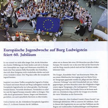 """60th European Youthweek in """"Hessenland Mitteilungen"""" ( HLM 4 2018 from Christian Blasi)"""