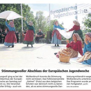 """Press Report: """"Tolle Stimmung trotz Wolkenbruch"""" Eurokirmes 2019 in der HNA Witzenhäuser Allgemeine 05.08.2019"""