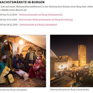 """Unser """"Advent auf der Burg"""" gehört jetzt zu den 100 Lieblingsorten in Hessen!"""