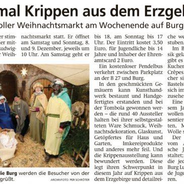 """Presseartikel """"Advent auf der Burg"""" (HNA Witzenhäuser Allgemeine 4.12.2019 und Werra-Rundschau Eschwege 5.12.2019)"""