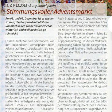 Stimmungsvoller Adventsmarkt (Moment. Kulturmagazin für das Hainichland 11/2018)