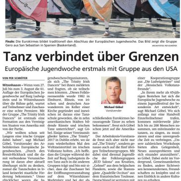 """Tanz verbindet über Grenzen"" – Dance connects across borders (Press release 18th of July 2019)"