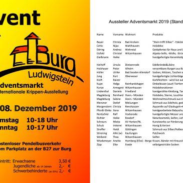 Advent auf der Burg Ludwigstein 2019 (Flyer)