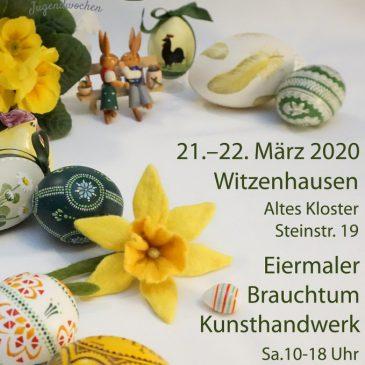 Der Ostermarkt 2020 musste leider abgesagt werden!!    (21. und 22. März 2020 – 38. Ostermarkt  im Alten Kloster in Witzenhausen)