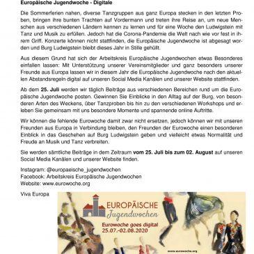 """Pressemitteilung """"Digitale Eurowoche 2020"""""""