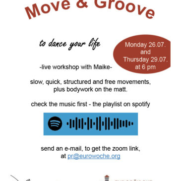 """Friendly reminder """"Move and groove"""""""