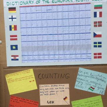 """Workshop """"Eurowochenwörterbuch"""" 1"""